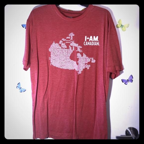 👔I am Canadian Mens T-shirt